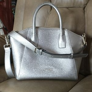 Guess Metalic Silver Tote